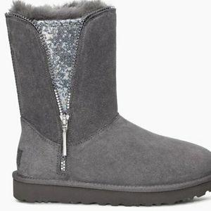 Ugg sequin zip boots